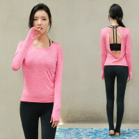新款女士瑜伽服三件套装运动显瘦瑜珈衣 韩版健身房服两件跑步裤黑色胸衣女