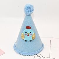 生日帽子不织布儿童宝宝生日周岁帽派对聚会装饰皇冠帽子