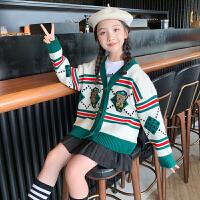 女童开衫毛衣秋装女孩上衣童装秋款中大童儿童针织衫