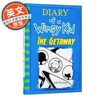 小屁孩日记 英文原版 逃跑去度假 Diary of a Wimpy Kid #12: The Getaway 初中课外