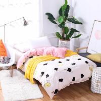 纯棉学生宿舍上下铺被套单人床上三件套0.9m床单1.2米床品全棉1.5