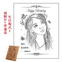 生日礼物送男生女友老婆公个性创意diy浪漫情人节定制照片木刻画