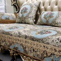 欧式真皮沙发防滑垫欧式沙发垫套布艺客厅真皮四季通用定做防滑坐垫套罩美式