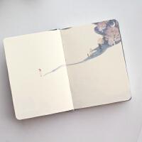 小清新日记本星境彩页本插画手绘复古本子笔记本文具创意记事本
