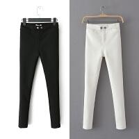 女装冬装修身弹力高腰加厚休闲铅笔裤外穿打底裤女长裤
