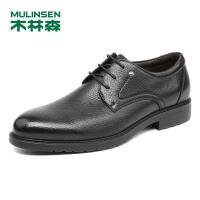 木林森男鞋2018秋季新款商务正装皮鞋 87053029