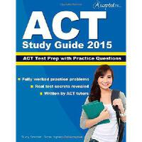 【预订】ACT Study Guide 2015: ACT Prep and Practice Questions