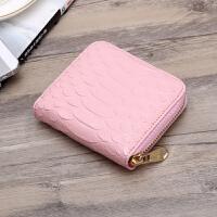 钱包女短款零钱包大容量简约女手包韩版潮时尚拉链手拿包 粉色