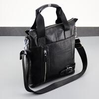 男包男单肩斜挎包休闲商务大容量竖款手提包小包