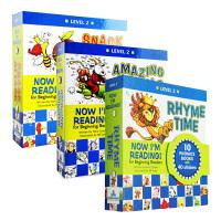 【中商原版】Now I'M Reading!我的第一套自然拼读故事书3册套装 Level 2 英文原版 Rhyme Time Snack Attack 自然拼读法 畅销童书 提供原版音频下载