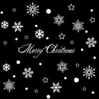 商场店铺橱窗户玻璃贴画墙贴纸自粘门贴圣诞节装饰白色雪花贴纸 A款 KX6012