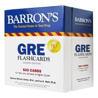 巴朗GRE500闪卡 英文原版 Barron's GRE Flashcards 500 Flashcards 抽认卡帮