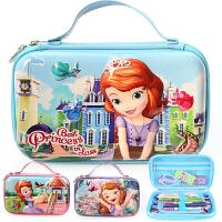 迪士尼苏菲亚公主小学生铅笔袋文具盒儿童学习用具女童可爱文具袋