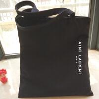 棉帆布包女单肩手提小清新韩国版学生装书大包环保购物袋文艺字母