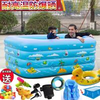 小孩宝宝游泳池家用超大号室内浴桶加厚加高儿童充气方形浴缸