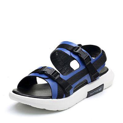 Teenmix/天美意2018夏厚底运动风舒适休闲平跟女凉鞋CDL03BL8