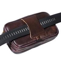 手机包腰包男穿皮带牛皮横款4寸5寸5.5寸多功能手机套钱包证件包