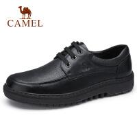 camel骆驼男鞋 秋季新品青年时尚休闲防滑皮鞋英伦工作差旅系带鞋