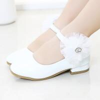 女童皮鞋小高跟公主鞋春秋季新款韩版女童鞋中大童礼服鞋儿童单鞋
