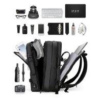可扩容防盗背包旅行大容量17寸电脑包时尚潮流男士双肩包商务书包