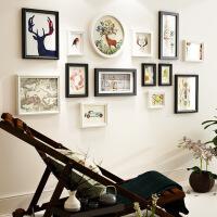 客厅组合简欧背景墙装饰画欧式墙壁创意挂画墙面圆形黑白挂墙墙画 158*80