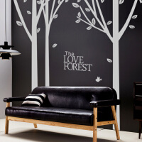 大型树林墙纸贴画电视背景墙贴纸 卧室客厅沙发墙壁装饰墙纸自粘