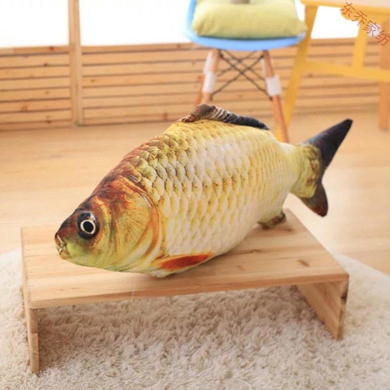 仿真鱼猪鸡抱枕可拆洗靠垫靠枕创意办公室午睡午休趴睡枕头个性3d