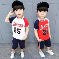 男童夏装新款套装宝宝半袖潮装运动洋气短袖短裤两件套装