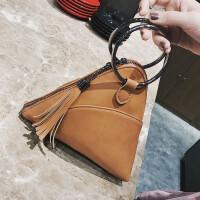 圆环手提包女三角包新款女包粽子包夏季个性休闲包可爱小包包