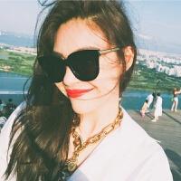 新款眼镜女韩版潮复古原宿风太阳镜网红款眼睛圆脸近视墨镜女