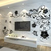 墙贴3d立体卧室客厅亚克力电视背景墙壁沙发创意温馨自粘装饰纸画 超