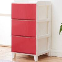 家居生活用品房间收纳整理柜零食柜子家用杂物柜子卧室客厅储物柜抽屉式收纳柜 3个