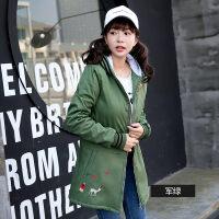 11-13-15-18岁高初中学生中长款加厚外套女冬装韩版加绒