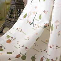 0716131448442韩式田园窗帘成品遮光涤纶面料 卧室飘窗帘布
