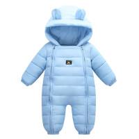婴儿连体衣男女宝宝羽绒棉哈衣抱服冬季加厚新生儿童衣服外出爬服