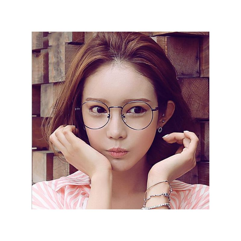 复古眼镜金属眼镜框小清新平光镜3447圆框眼镜架框架眼镜潮男