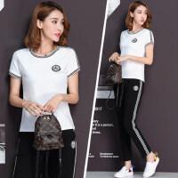 短袖长裤运动套装女韩版时尚休闲两件套女士大码运动服套装