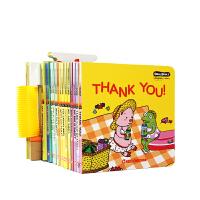 【领�涣⒓酢�Honey English甜心英语第一辑 20册+100张点读卡片 0-3-6岁儿童宝宝启蒙翻翻书支持小怪