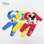 迪士尼Disney童装 男童米奇印花套装秋季新款纯棉T恤+舒适透气长裤2件套193T961