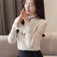 秋装女2018新款韩版蕾丝打底衫长袖雪纺衫秋天上衣服秋款时尚小衫