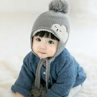 男女童宝宝帽秋冬1-2岁婴儿帽子6-12个月儿童保暖加绒云朵毛线帽 以宝宝头围为准