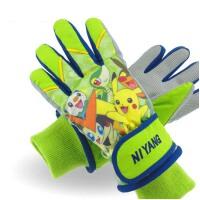 户外滑雪儿童手套 保暖冬季款厚五指 手套 男童防水可爱卡通小学生手套