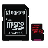 Kingston金士顿 64GB TF(Micro SD) 存储卡 无人机运动相机 gopro U3 C10 A1 V