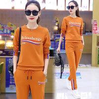 运动套装女士卫衣两件套韩版时尚长袖休闲衣服女士运动服