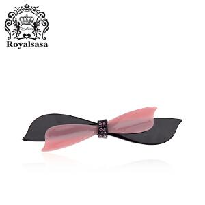 皇家莎莎时尚蝴蝶结发夹顶夹仿水晶横夹弹簧夹韩版盘发头饰马尾夹