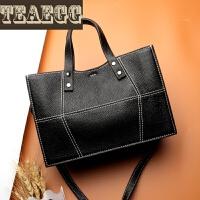TEAEGG品牌新款真皮头层牛皮欧美时尚百搭休闲单肩斜跨手提女士包包SN3452