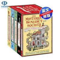 英文原版 天才神秘会社全集5册套装 The Mysterious Benedict Society Complete 纽