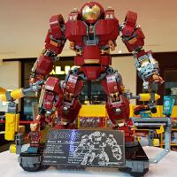 钢铁侠积木复仇者联盟3拼装玩具反浩克装甲机甲模型兼容乐高76105