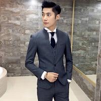施衣品西装男秋装韩版纯色结婚礼服西装套装男修身小西服男XZ52