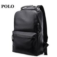 Polo男背包 时尚潮流青年书包商务简约皮电脑大学生男士双肩包